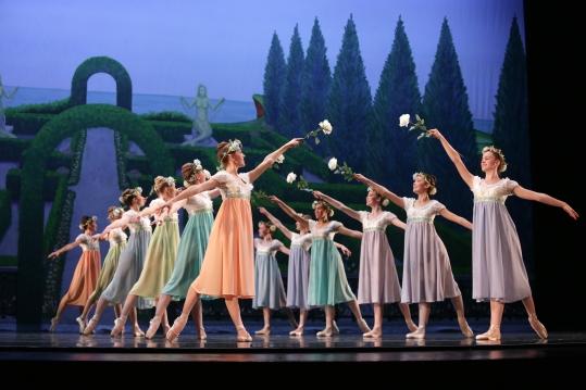 Charlotte Ballet - Little Mermaid - Flower Girls _ photo by Jeff Cravotta